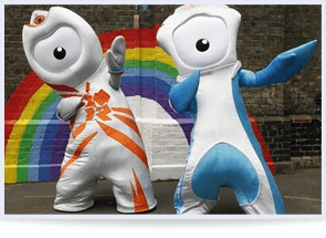 Olympics Mascots Wenlock and Mandeville