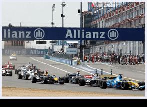 Silverstone F1 racing cars