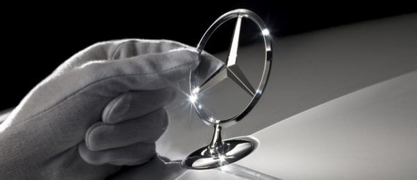 Mercedes Benz gleaming three pointed star