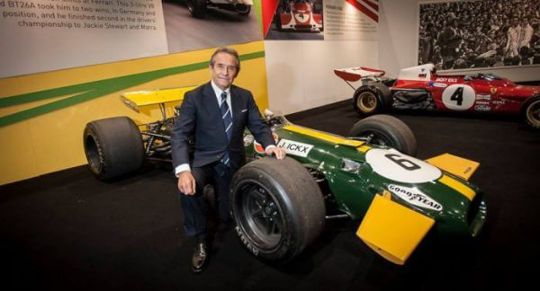 Jacky Ickx at the London Classic Car Show