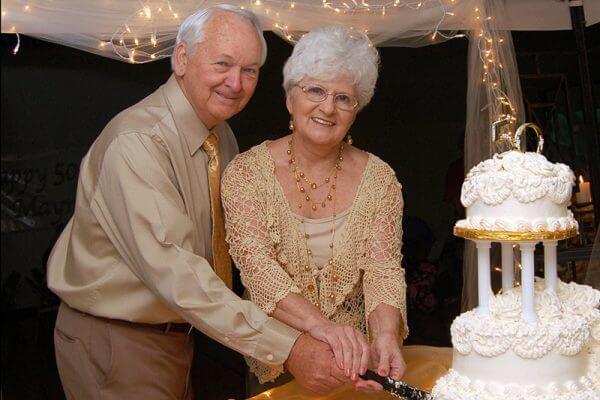 Gold wedding anniversary