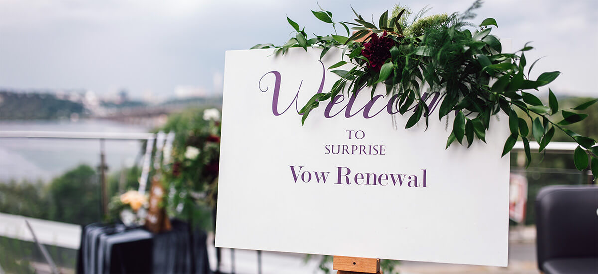 Vow renewal party